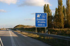 Abfahrt AS 4 Richtung Dresden – Prohlis