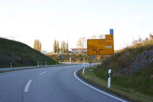 Links abbiegen Richtung Bannewitz