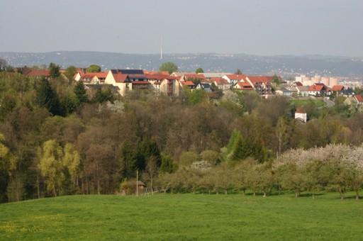 Goppeln - im Hintergrund Dresden