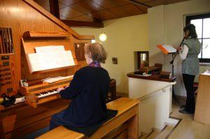 Musikalische Umrahmung während der Heiligen Messe