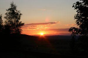 Ferienhaus - Sonnenuntergang