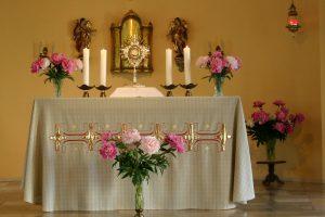 Eucharistische Anbetung in der Klosterkirche in Goppeln