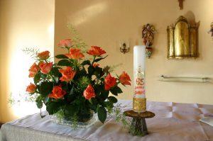 die Kerze der Jubilarin